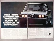 BMW 530i 2-Page PRINT AD - 1977