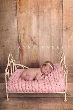 Chunky Baby Pink Merino Blanket Newborn Photography Prop Baby Basket