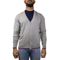 Armani Jeans Cardigan Maglia Uomo Col Grigio tg XXL | -55 % OCCASIONE |
