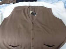 MENS SLEEVELESS CARDIGAN 3XL & 4XL RRP £59-50