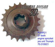 New triumph 650 500 pre unit Engine sprockets 21 thies moteur pignon e3108 70-3108