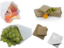 More details for brown & white kraft / sulphite strung paper bags food sandwich grocery bag ml