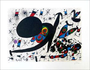 Joan Miro Homage To Joan Prats Facsimile Signed Offset Litho Print COA