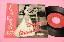 """TONINA TORRIELLI 7"""" EP ORIGINALE SANREMO 1957 COPERTINA LAMINATA 4 CANZONI !!!!!"""