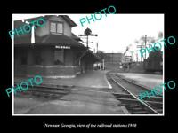 OLD 8x6 HISTORIC PHOTO OF NEWNAN GEORGIA THE RAILROAD STATION c1940