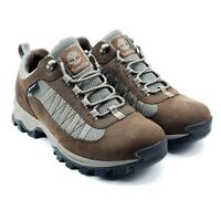 Timberland Mt. Maddsen Lite Waterproof Mens Brown Leather Hiking Shoes Sz 9.5
