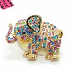 Brooch Elephant Sparkling Multicolor rhinestone