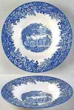 Wedgwood ROMANTIC ENGLAND BLUE Penhurst Place Rimmed Soup Bowl 1738979