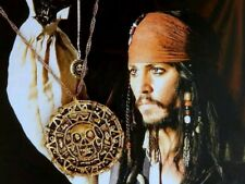 Pirates of Caribbean Aztec Skull Coin Necklace Pendant Charm Collectible Gift