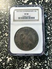 1810 Isle de Bonaparte (Reunion) 10 Livres NGC VF30 #G322 Silver! Scarce Issue!