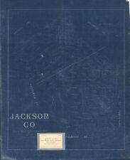 "HP  20"" x 24"" 1896 Map of Jackson Co. Jackson County"