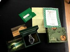 Rolex VINTAGE 14060 Submariner Stainless Steel No Date w BOX AND PAPER 1995 RARE