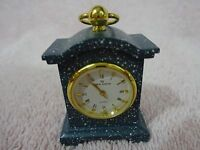 VINTAGE BLUE VERY FUNCTIONAL MINIATURE DESK CLOCK