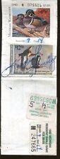 Michigan 1989 Resident Hunting License/ Rw56 + State & Trout Stamps -553