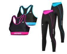 Ladies Womens Base Layer Compression Sports Bra Top + Yoga Tights Gym Sports