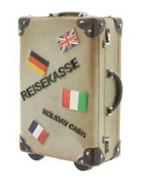 Spardose Reisekoffer 11 cm x 15 cm Sparbüchse Reisekasse