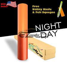 "*12x48"" Reflective Orange DIY Vinyl Car Wrap Sticker Decal Graphic Adhesive Film"