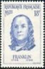 "FRANCE STAMP TIMBRE N° 1085 "" BENJAMIN FRANKLIN PHYSICIEN "" NEUF xx TTB"