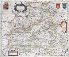 Reproduction carte ancienne - Castille (Castilla) 1630