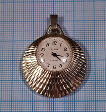 SLAVA WOMEN'S NECKLACE PENDANT WATCH 17 JEWELS GOLD PLATED USSR SOVIET ERA