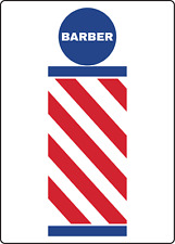 Sign Barber Spa Salon Retail Storefront Window Adhesive Vinyl Sign Decal