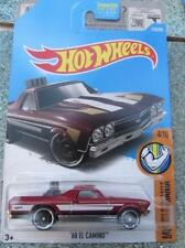 Hot Wheels 2017 #216/365 1968 EL CAMINO red HW Muscle mania Long Card