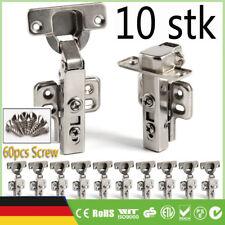 10stk Soft-Close Edelstahl Türband Scharniere Pendeltürscharnier Schwingtür