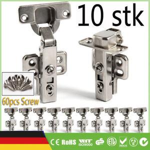 10stk Soft-Close Edelstahl 304 Türband Scharniere Pendeltürscharnier Schwingtür