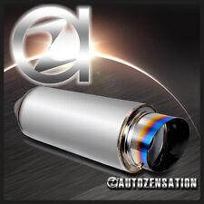 """4"""" Titanium Slant Burn Tip Exhaust Muffler+Silencer For Celica Corolla Supra FRS"""
