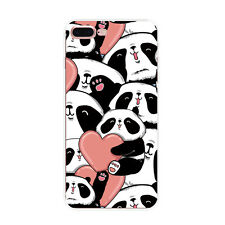 For Apple iPhone SE 5 6 S 7 Plus Case PANDA Pattern Crystal Clear Soft TPU Cover