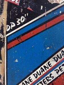 """Vintage Santa Cruz Duane Peters 30"""" Skateboard Deck Olson Punk Oi Aaarrggghh"""