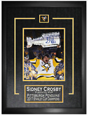 Sidney Crosby Pittsburgh Penguins signed Stanley Cup framed 8x10