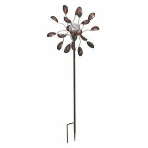 Smart Solar Gemini Wind Spinner Garden Solar Ornament