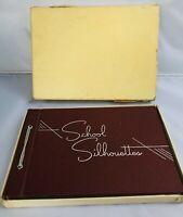 School Silhouettes Memory Tassel Book Blank in Original Box no.S 627 Gibson & Co