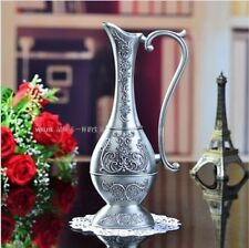 Beautiful Metal Arabian Egyptian Vase Ornament Moroccan Indian Carved Decor
