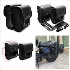 Nero PU Tool borse laterali motocicletta sella strumento borsa da sella bagagli universale