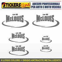 Kit completo 6 adesivi per camper MCLOUIS loghi mc louis caravan roulotte M.2