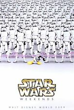 DISNEY STAR WARS WEEKENDS 2008 POSTER MashUp Banned DONALD DUCK as STORMTROOPER