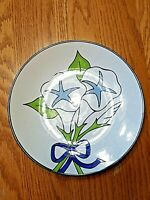 "Ava's Greenhouse Stoneware Morning Glory 7.5"" Salad Plate SY-6335 Vtg Japan"