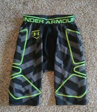 Under Armour Men's Compression Shorts Small Gray Black Geometric Neon Running BB