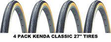 "4PACK 27"" KENDA K35 Gumwall 27 x1-1/4"" Road Bike Tires Pair Fixed Gear Classic"