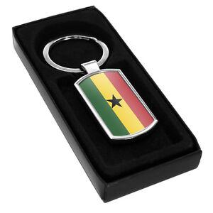 Ghana Flag Metal Keyring 080
