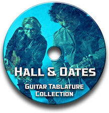 HALL & OATES POP ROCK GUITAR TAB TABLATURE SONG BOOK SOFTWARE CD