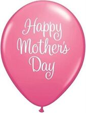 "5 Pink Happy Mothers Day Classy Script 11"" Qualatex Latex Balloons"