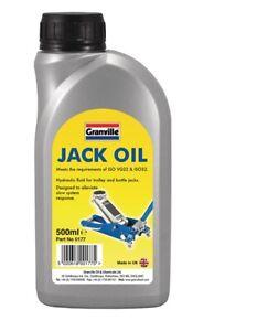 Granville Jack Oil Hydraulic Fluid Trolley Bottle Compression Fluid 500ml