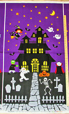 "Happy Haunting Haunted House Halloween Northcott Fabric  23"" Panel    #20586"