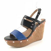 Dolce Vita Women's Strappy Multi Leather Sandal Wedges Size 6.5 M *