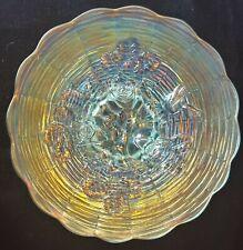 "Stunning Northwood Rose Show Ice Blue Carnival Glass 9.6"" Diameter Plate."
