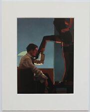 """Chiamate di notte II by Jack Vettriano MONTATO ART PRINT 10 """"x 8"""" Erotico Fetish"""
