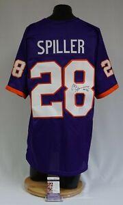 CJ SpillerSigned Clemson Tigers Football Jersey XL JSA R99625 Bills Saints Jets